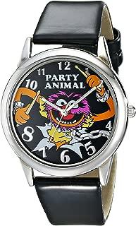 Muppets Women's MU1007 Animal Black Dial Black Strap Watch