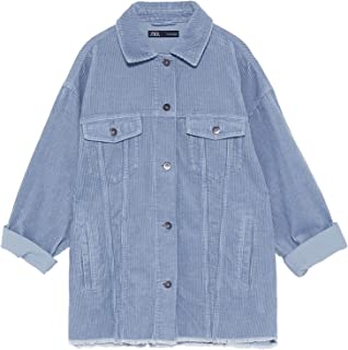 Zara Women Corduroy Overshirt with Pockets 8372/222