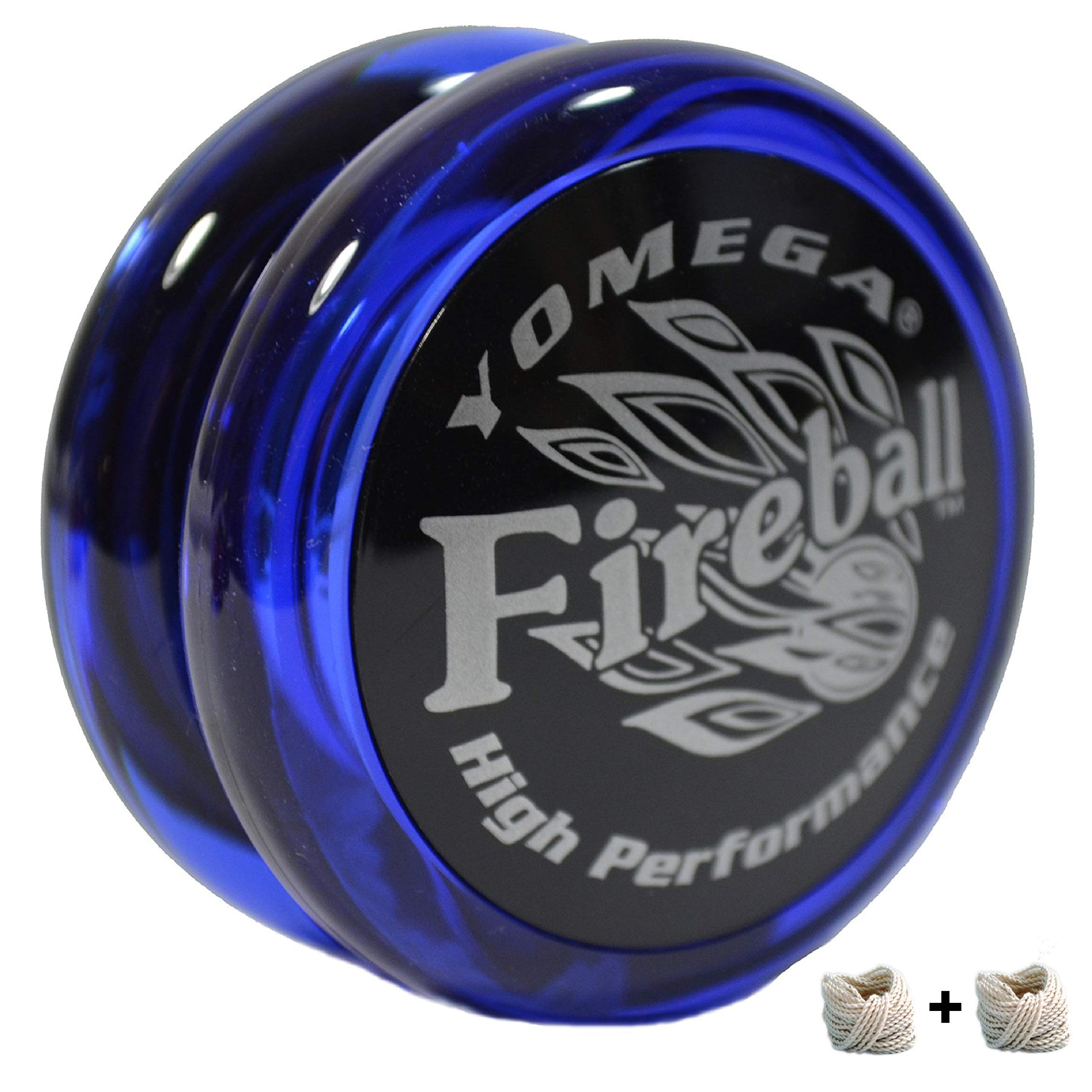 Yomega Fireball - Professional Responsive Transaxle Yoyo, Great For Kids And Beginners To Perform Like Pros + Extra 2 Strings & 3 Month Warranty (Dark Blue)