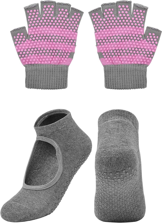 Cosmos Non-Slip Ranking TOP2 Yoga Gloves Socks Max 74% OFF and Set Pilates
