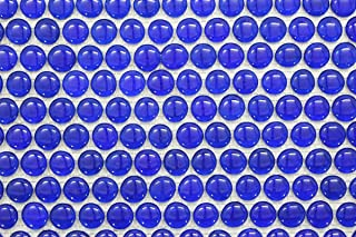 Glossy Cobalt Blue Penny Round Glass Mosaic Tiles for Bathroom and Kitchen Walls Kitchen Backsplashes
