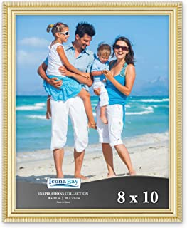 Icona Bay 8x10 Picture Frames (1 Pack, Gold) Picture Frame Set, Wall Mount or Table Top, Inspirations Collection