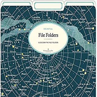 Cavallini Papers & Co. Celestial Heavyweight File Folders (Set of 12)