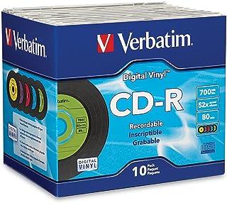 Verbatim CD-R 80min 52X with Digital Vinyl Surface - 10pk Slim Case - 94439