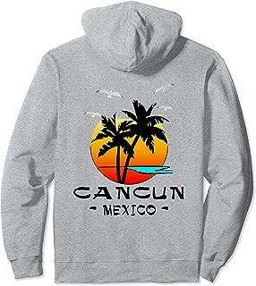 CANCUN MEXICO CARIBBEAN PALMS SEAGULLS SOUVENIR BEACH Pullover Hoodie