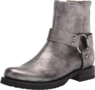 Frye Women's Veronica Harness Short Ankle Boot, Silver, 7.5