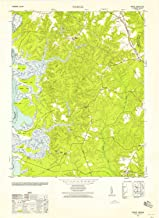 YellowMaps Norge VA topo map, 1:24000 Scale, 7.5 X 7.5 Minute, Historical, 1952, Updated 1958, 29.9 x 21.8 in
