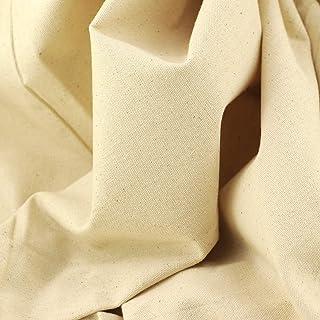 Rose Flavor The Yard Baumwoll-Segeltuch, zum Nähen und Basteln, 170 g, naturfarben