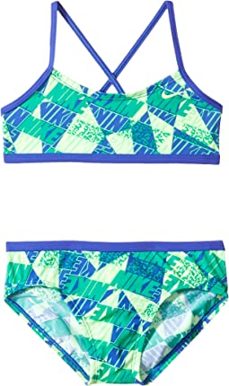 Nike Kids - Graphic Crossback Bikini (Big Kids)