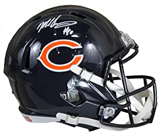 Mike Singletary Autographed Chicago Bears Blue Riddell Speed Replica Full Size Helmet w/JSA COA