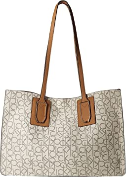 Calvin Klein - Unlined Monogram East/West Boxed Tote