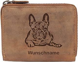 XXL Geldbörse Geldbeutel Geldbörsen Dog Hund Schwarz Braun
