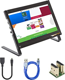 UCTRONICS 7 Inch IPS Touchscreen for Raspberry Pi with Prop Stand, 1024×600 Capacitive HDMI LCD Monitor Portable Display f...