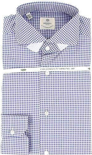 LUIGI BORRELLI Homme FELICE5043blancbleu Bleu Coton Chemise