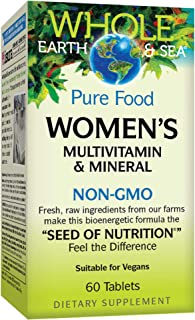 Whole Earth & Sea from Natural Factors, Women's Multivitamin & Mineral, Whole Food Supplement, Vegan and Gluten Free, 60 t...