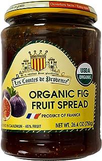 Les Comtes de Provence Organic Fig Fruit Spread Jam Made in France, 26.4 Ounce