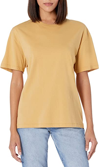 The Drop Women's Lydia Loose Short Sleeve Drop Shoulder Jersey T-Shirt