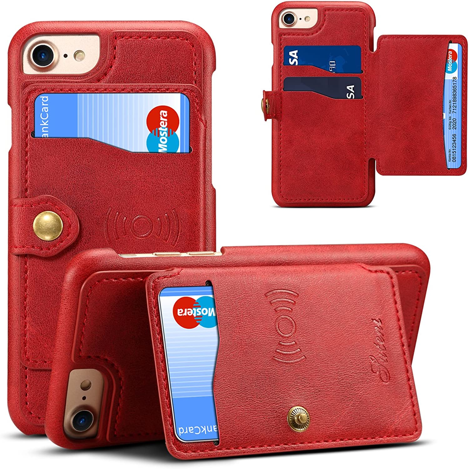 IPhone X Wallet Case,Magnet Clip, Leather ,Phone Wallet and iPhone Card Holder Card Wallet for Cell Phone
