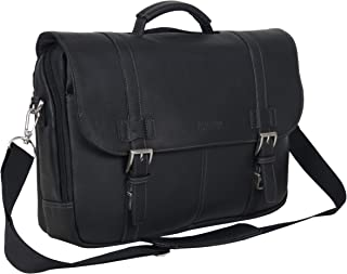 Kenneth Cole Reaction Show Business Full-Grain Colombian Leather Dual Compartment Flapover 15.6-inch Laptop Business Portfolio