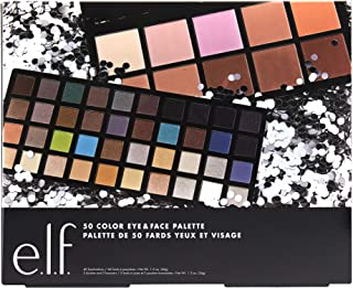 e.l.f. 50 Color Eye & Face Holiday Palette, 1.3 Ounce