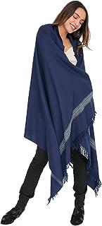 likemary Merino Wool Pashmina Oversize Wrap & Travel Blanket Scarf Ethical & Handwoven Mansi