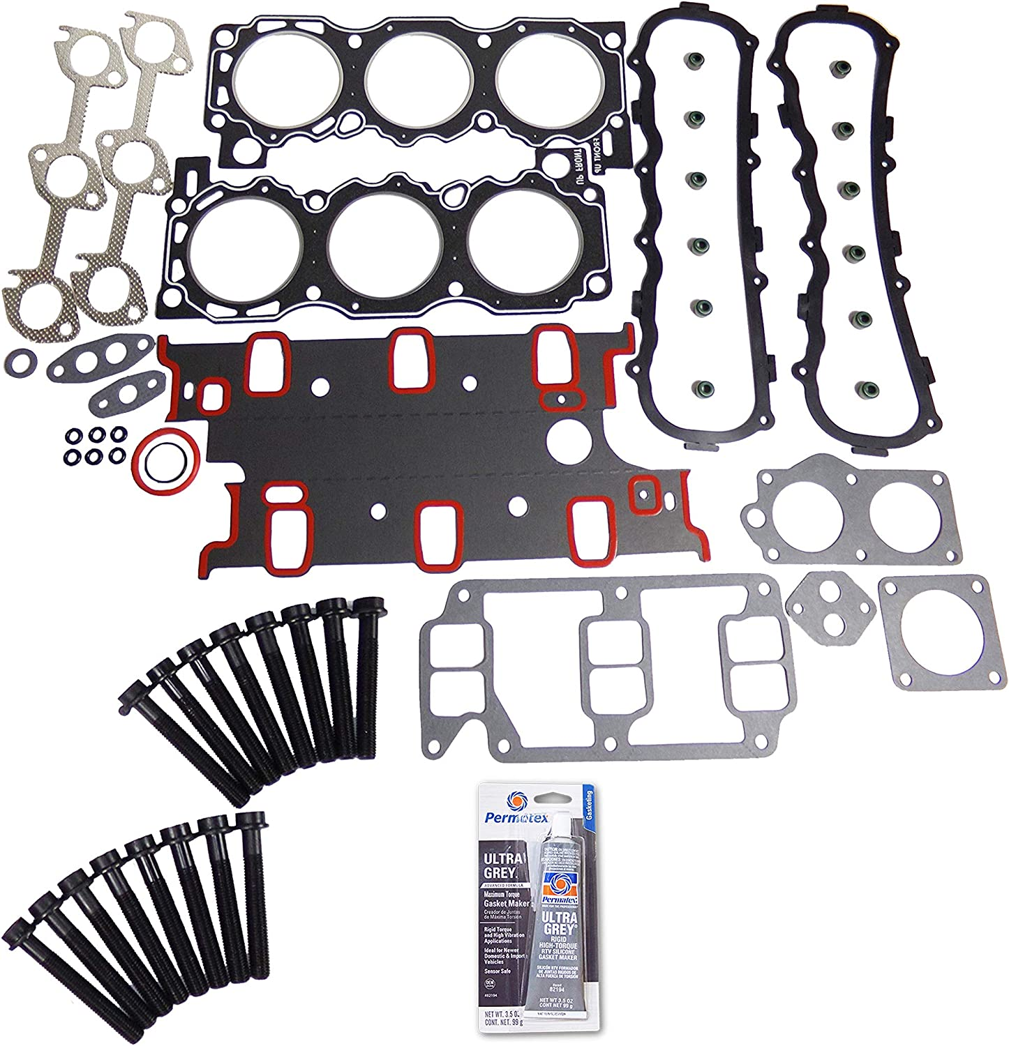 Head Gasket Set Bolt Kit Fits: Our shop OFFers the best service Mesa Mall II Bronco Ranger Ford 2.9L 86-92