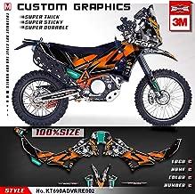 Kungfu Graphics Custom Decal Kit for 690 Adventure Rally Raid EVO2, Orange Black Grey, KT690ADVRRE002