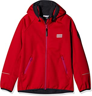 LEGO Wear Unisex Jacket With Windproof Finish and Detachable Hood, Red, 13 Yr