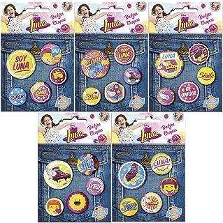 Soy Luna - Pack de 5 chapas y Pins (Kids WDSL129)