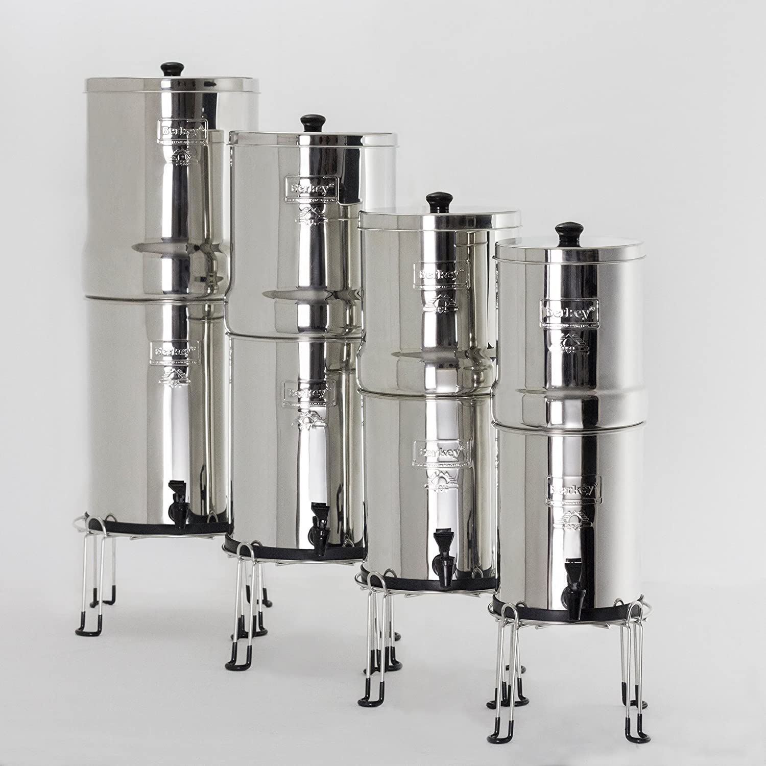 Berkey Water Filter Stainless Steel Wire Stand with Rubberized Non-Skid Feet for Travel and Other Small Sized Gravity Fed Water Filters Raises Your 6 inches