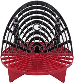 Grit Guard Bucket Insert (Red) with Washboard Bucket Insert (Black) - Separate Dirt from Your Sponge While Washing Your Car