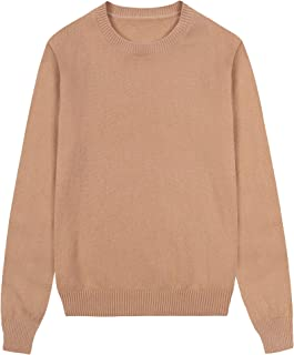 Women's 100% Pure Cashmere Long Sleeve Crew Neck Pullover Sweater