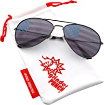 grinderPUNCH American Flag Aviator Sunglasses Glasses