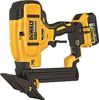 DEWALT DCN682D2 TL20596 Cordless XR Brushless Flooring Stapler, 18 V, Yellow/Black, 18 Gauge