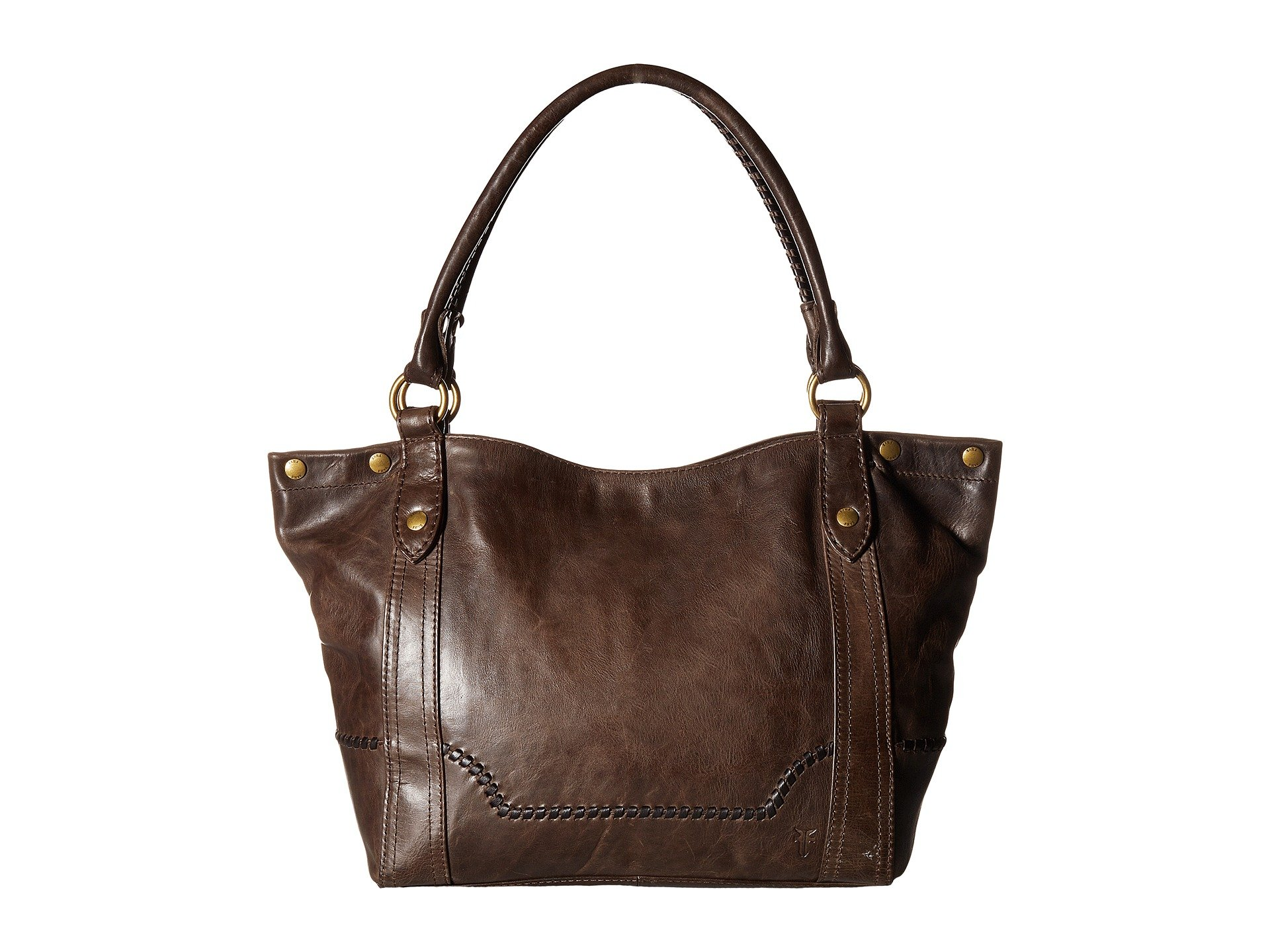 Melissa Leather Shoulder Bag - Beige, Slate Antique Pull Up