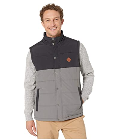 Cinch Color Blocked Puffer Vest (Black) Men
