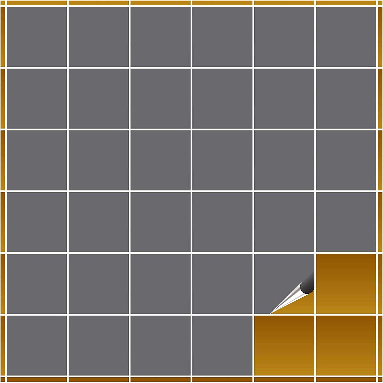 FoLIESEN Fliesenaufkleber für Bad und Küche - 10x10 cm - - - Silbergrau matt - 240 Fliesensticker für Wandfliesen B0071CBDEC 0bb4cb