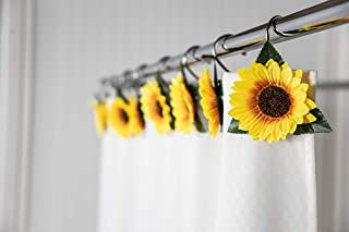Details about  /Home Interiors Shower Curtain Rings 12 Pack 6 yellow stars 6 black and white sq.