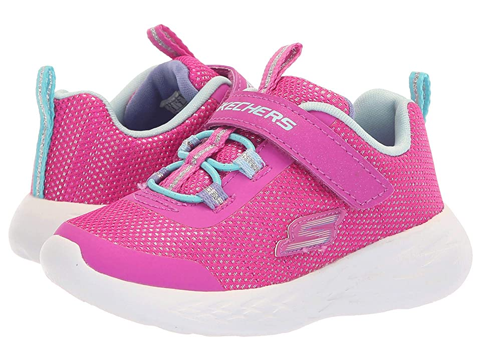 SKECHERS KIDS Go Run 600 Sparkle Runner (Toddler) (Pink/Multi) Girl