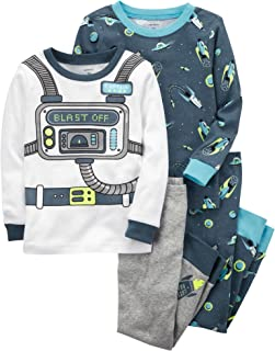 Carter's Boys' 2T-20 4-Pc. Neon Astronaut Snug Fit Cotton Pajamas