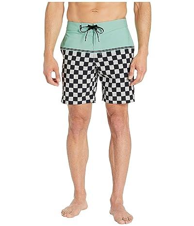 Vans Newland Boardshorts 18 (Mist Green/Checkerboard) Men