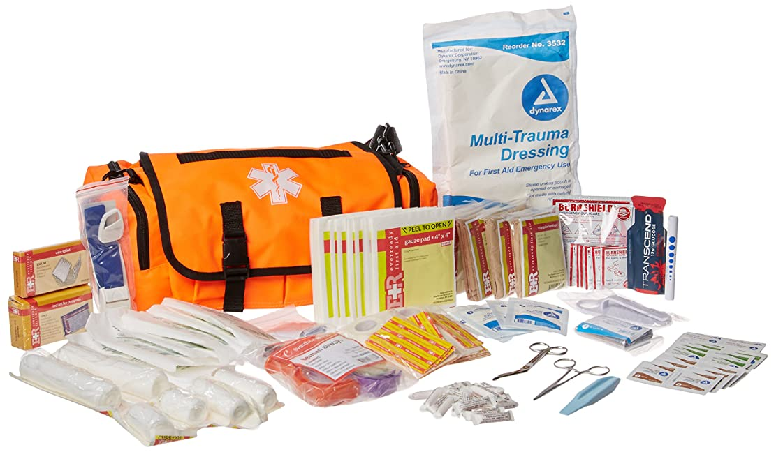 鎮静剤権限を与えるうめきDixie Ems Fully Stocked First Responder On Call Kit, Orange by Dixie Ems