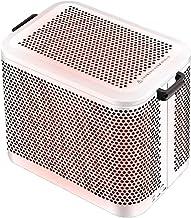 WXDL Portátil Eléctrico Calefactor Ceramico Personal Calefactor de Aire, Calefacción de Cinco Lados, Protección contra Sobrecalentamiento, Mini Calentador de Ventilador con Ruedas Universales