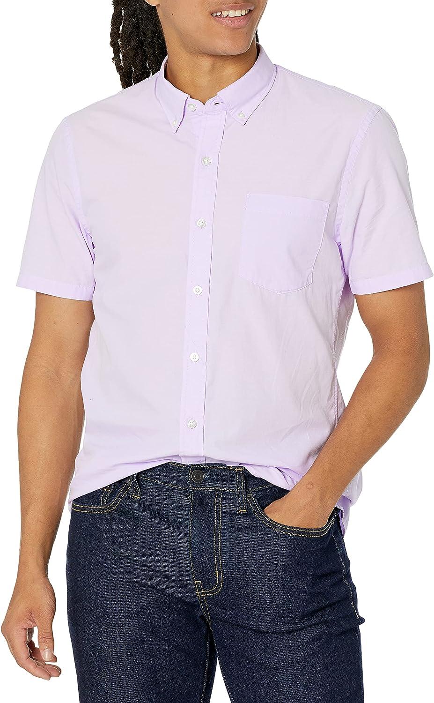 Goodthreads Men's Slim-Fit Short-Sleeve Solid Poplin Shirt