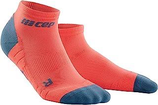 Men's Ankle Compression Running Socks - CEP Low Cut Socks (Black/Gray) V