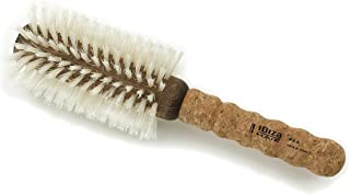 B4 - Ibiza Blonde Boar Round Brush with Extended Cork Handle, 18 Rows of Bristles