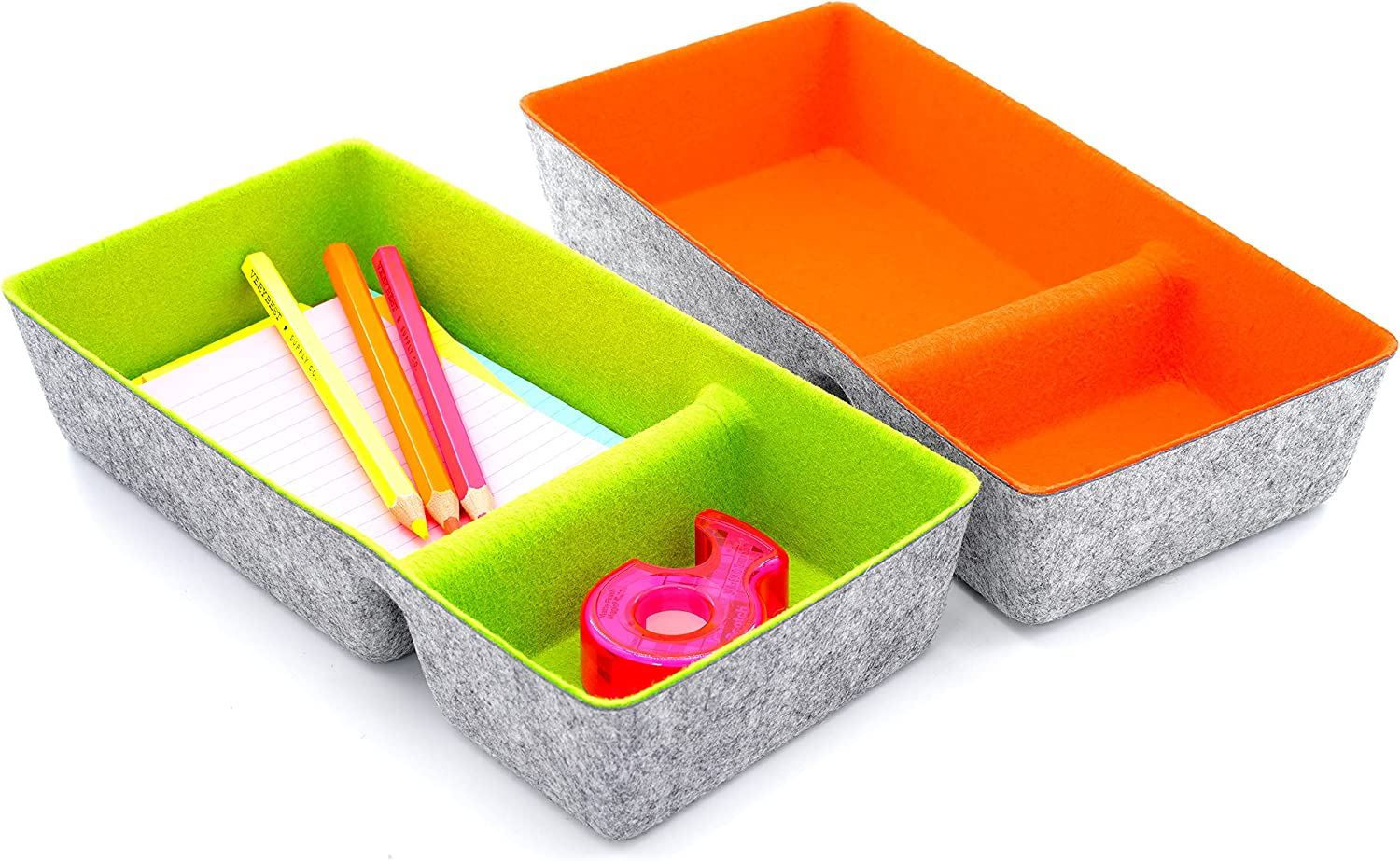 Welaxy Desk Max 74% OFF Drawer Organizer trays low-pricing Compartments Organiz Office 2