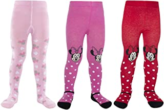 Disney Baby Girls' Leggings Tights – Soft Breathable Stockings Pantyhose (Newborn/Infant), Size 18-24 Months, Red/Dark Pin...