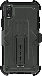 Ghostek Iron Armor Rugged Case with Holster Belt Clip Designed for iPhone XR – Gray
