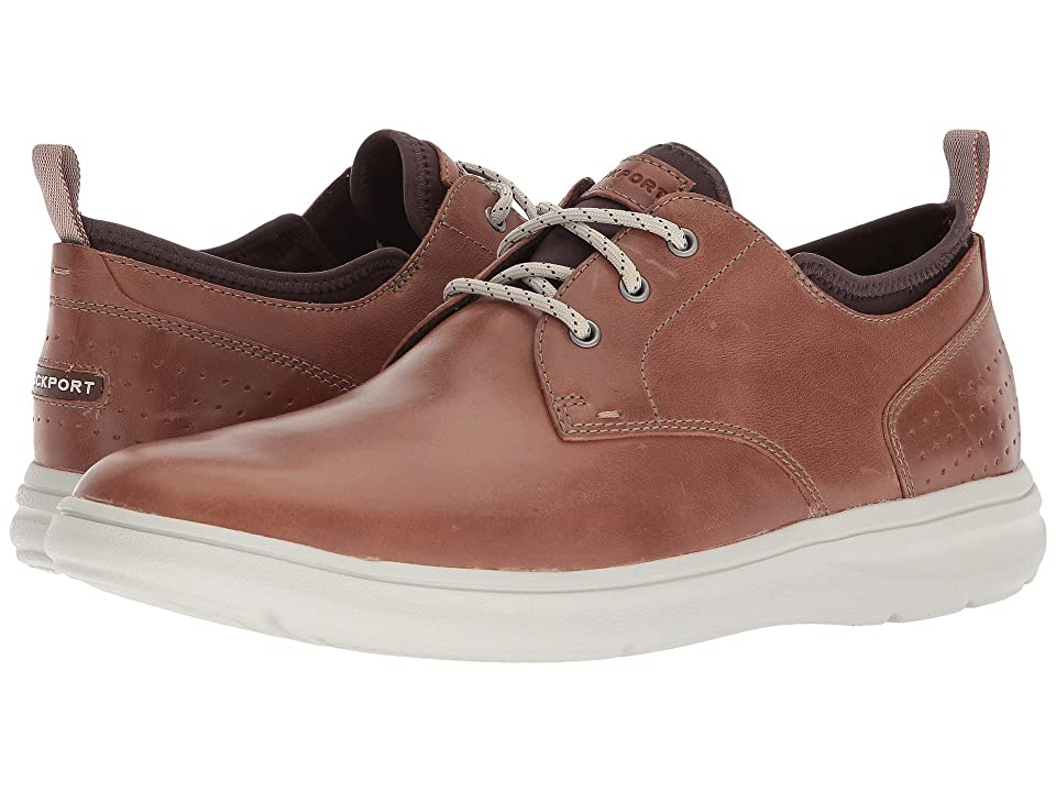 Rockport Zaden Plain Toe Oxford (Boston Tan Leather) Men